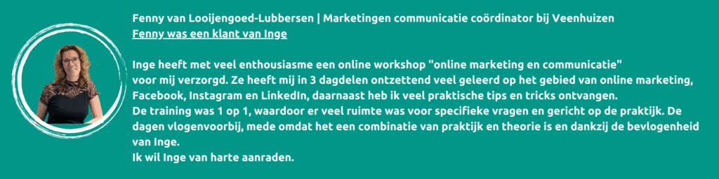 Workshop online marketing en communicatie, IngKaCommunicatie.